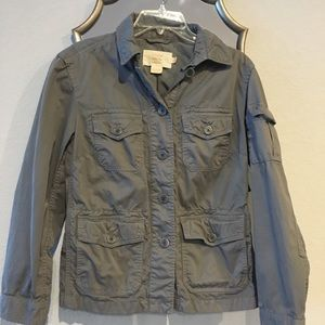 Grey cotton utility jacket